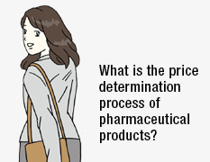What is the price determination process of pharmaceutical products?